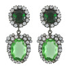 Kenneth Jay Lane Emerald Peridot Earrings