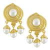 Kenneth Jay Lane Pearl Swirl Drop Earrings