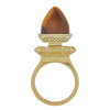 House of Harlow 1960 Tiger's Eye Rock Out Ring