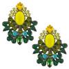Dannijo Magnolia Yellow Emerald Earrings