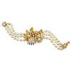 Miriam Haskell Three Row Ornate Pearl Bracelet