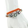 Shourouk Baraka Karma Neon Orange Bracelet