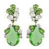 Badgley Mischka Green Crystal Drop Earrings