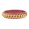 Vita Fede Oggi Red Snakeskin Bangle