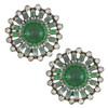 Vintage KJL Large Emerald Glass Earrings