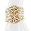 Miriam Haskell Pearl Crystal Bracelet