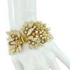 Miriam Haskell Ornate Crystal and Pearl Bracelet
