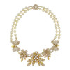 Miriam Haskell Floral Statement Necklace