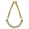 Miriam Haskell Crystal Crescent Necklace
