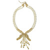 Miriam Haskell Bow Leaf Drop Necklace