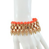 Mawi Neon Orange Pearl Spike Bracelet