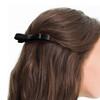 L. Erickson Black Small Couture Bow Barrette