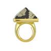Kenneth Jay Lane Gold Snake Print Ring