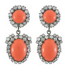 Kenneth Jay Lane Crystal Coral Drop Earrings