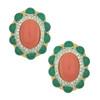 Kenneth Jay Lane Coral Emerald Earrings