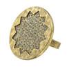House of Harlow 1960 Smoked Pave Sunburst Ring