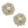 Ciner Lana Pearl Centre Flower Earrings