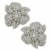 Ciner Latifa Crystal Silver Flower Earrings