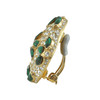 Ciner Large Emerald Pave Earrings