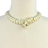 Ciner Ivory and Gold Cougar Necklace