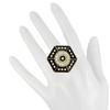 CC Skye Power Crystal Black Enamel Ring