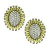 Ben-Amun Yellow Crystal Flower Earrings