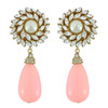 Ciner for Sophie Blush Crystal Flower Drop Earrings