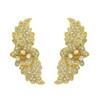 Joanna Laura Constantine Gold Crystal Floral Ear Cuffs
