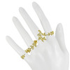 Joanna Laura Constantine Gold Long Crystal Leaf Ring