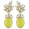 Ciner for Sophie Buttercup Crystal Leaf Drop Earrings