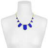 House of Harlow 1960 Cobalt Leather Station Necklace