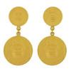 Vintage Christian Dior Anniversary Coin Earrings