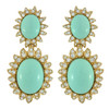 Ciner for Sophie Mint Cabochon Earrings