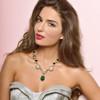 Ciner for Sophie Ornate Emerald Crystal Flower Necklace