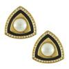 Vintage Christian Dior Triangle Art Deco Pearl Earrings