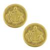 Vintage Christian Dior Jumbo Gold Ornate Button Earrings