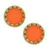 House of Harlow 1960 Coral Starburst Button Earrings