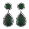 Kenneth Jay Lane Crystal Emerald Drop Earrings