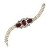Vintage Crystal Fuchsia Bracelet