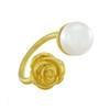 LeiVanKash Gold Rose Pearl Ring