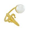 LeiVanKash Gold Dagger Pearl Ring