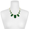House of Harlow 1960 Emerald Resin Five Station Necklace