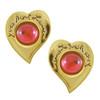 Vintage Yves Saint Laurent Red Heart Earrings