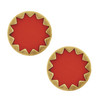 House of Harlow 1960 Red Starburst Button Earrings