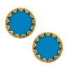 House of Harlow 1960 Turquoise Starburst Button Earrings