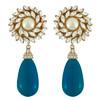 Ciner for Sophie Cerulean Blue Flower Drop Earrings