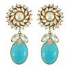 Ciner for Sophie Aqua Blue Daisy Earrings
