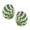 Ciner Enamel Jade Swirl Earrings