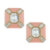 Ciner Blush Baguette Deco Earrings
