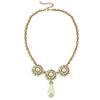 Ciner for Sophie Mini Pearl Crystal Flower Necklace